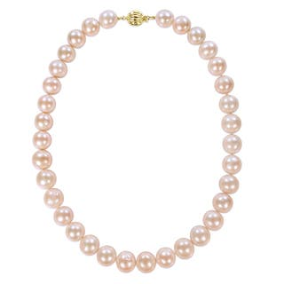 Miadora Signature Collection 14k Yellow Gold Multi-Color Cultured Freshwater Graduated Pearl Necklace (11.5-13 mm)|https://ak1.ostkcdn.com/images/products/17436586/P23670100.jpg?impolicy=medium