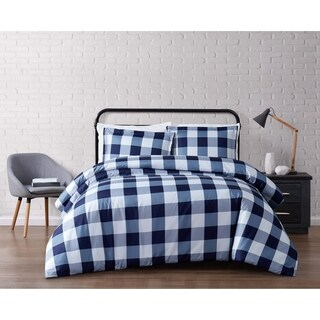 Truly Soft Everyday Buffalo Plaid Printed Duvet Cover Set