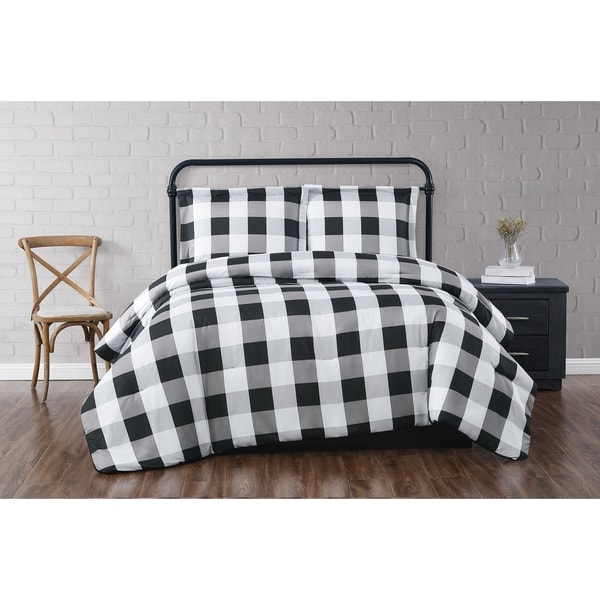 Truly Soft Everyday Buffalo Plaid Printed Duvet Cover Set. Opens flyout.