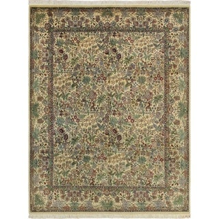 Pak-Persian Wali Pearson Ivory/Green Rug (8'0 x 10'1)