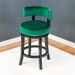 Mossoro Velvet Swivel Counter Chair