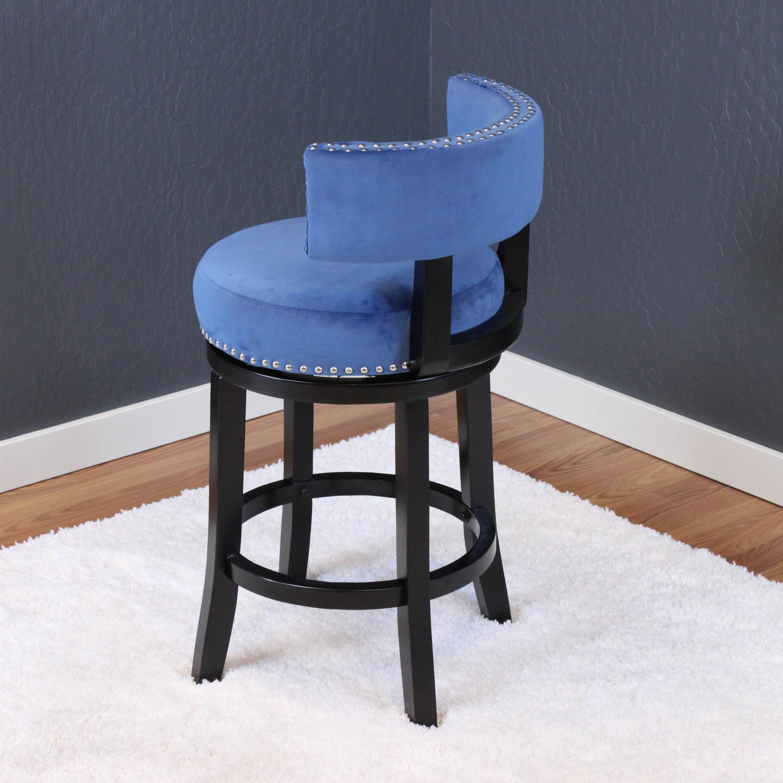 Fine Silver Orchid Sonja Velvet Swivel Counter Chair Alphanode Cool Chair Designs And Ideas Alphanodeonline
