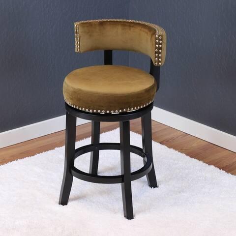 Silver Orchid Sonja Velvet Swivel Counter Chair