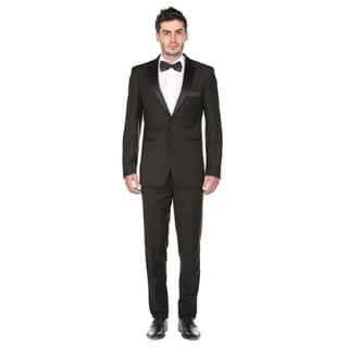Gino Vitale Men's Slim Fit Notch Lapel Tuxedo (Option: 52l)|https://ak1.ostkcdn.com/images/products/17436996/P23670373.jpg?impolicy=medium