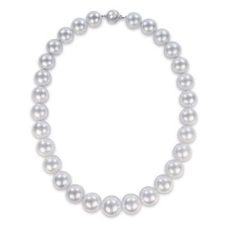 Miadora Signature Collection 14k White Gold South Sea Graduated Pearl Necklace (14-17mm)