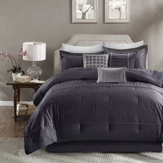 Madison Park Channing Navy 7-piece Comforter Set With Pleats