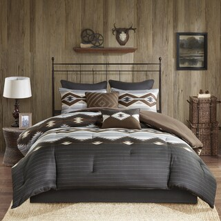 Woolrich Bitter Creek Grey/ Brown Oversized Comforter Set