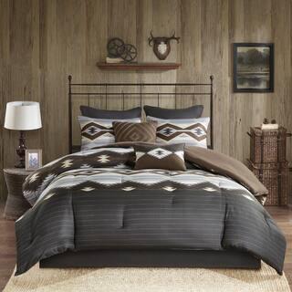Woolrich Bitter Creek Grey Brown Oversized Comforter Set