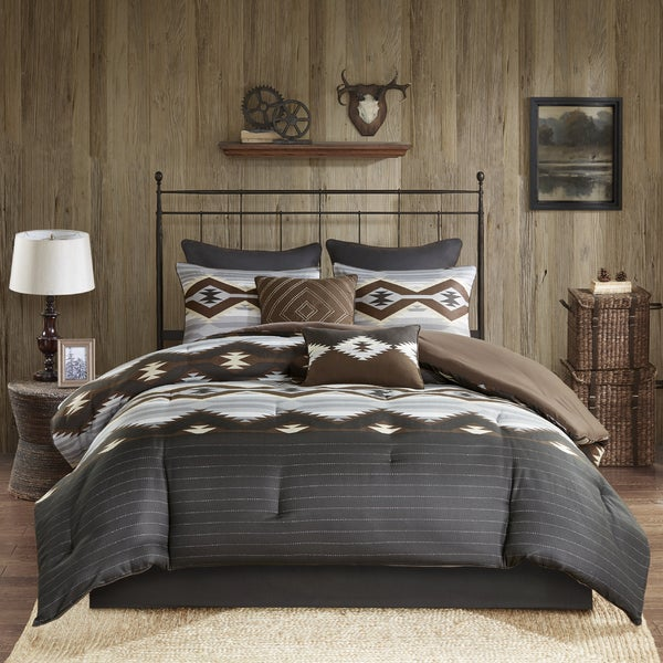 Shop Woolrich Bitter Creek Grey Brown Oversized Comforter