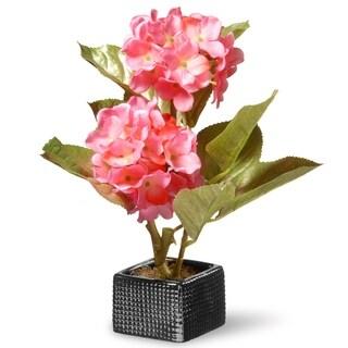 """10"""" Pink Hydrangea Flower"""
