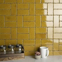SomerTile 2.5x5.125-inch Nove Camel Subway Ceramic Wall Tile (60 tiles/6.16 sqft.)