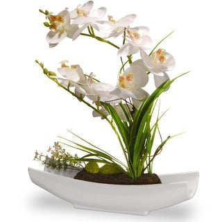 "13"" White Orchid Flowers"