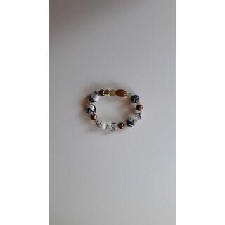 Handmade Artisan Mixed Glass Beaded Bracelet (USA)