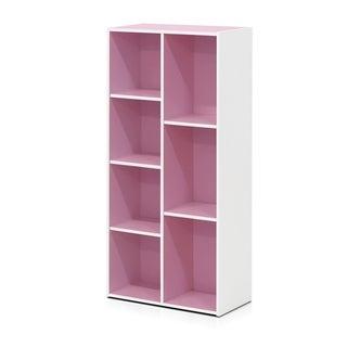 Furinno 7-Cube Reversible Open Shelf, White 11048WH