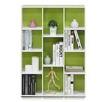 Porch & Den Hollygrove White/Green 11-cube Reversible Open Shelf Bookcase