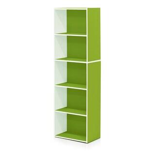Furinno 5-Tier Reversible Color Open Shelf Bookcase