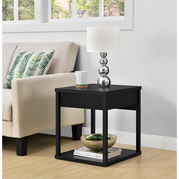 Shop Ameriwood Home Parsons End Table With Drawer Free