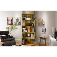 Accentuations by Manhattan Comfort Charming Petrolina Yellow Gloss Wood Z-Shelf 5-shelf Bookcase