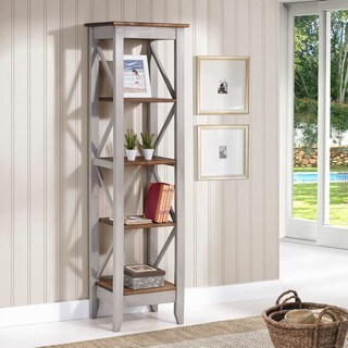 Manhattan Comfort Jay Solid Wood 4-shelf 18.5-inch Bookcase