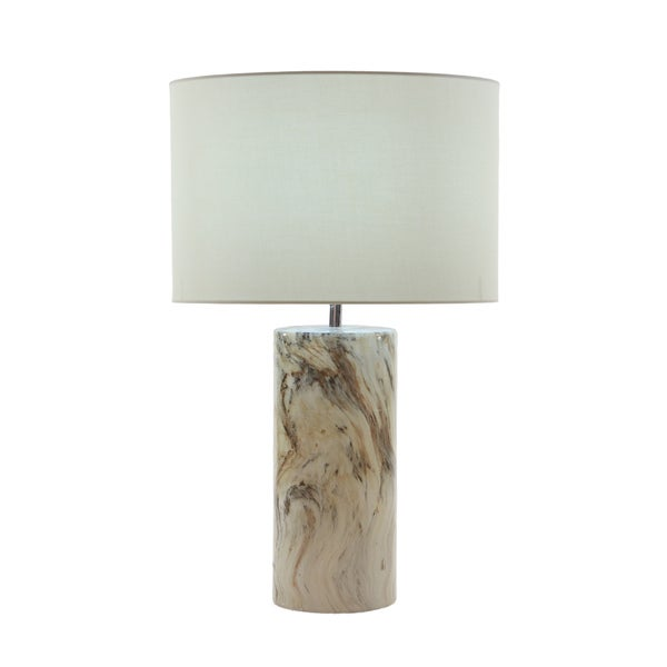 Urban Designs Glazed Ceramic Column Table Lamp