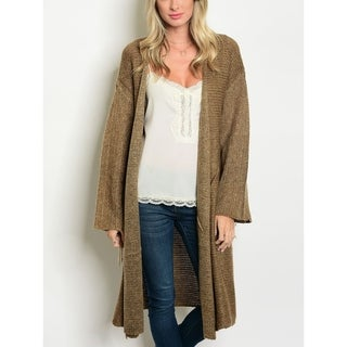 JED Women's Oversized Cocoa Knitted Cardigan