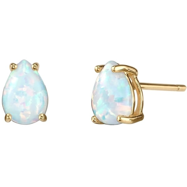 gold ethiopian edge earrings d diamond stud scalloped products opal yellow and