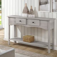 Manhattan Comfort Jay White Wood 49.21-inch Sideboard Entryway with 2 Full Extension Drawers