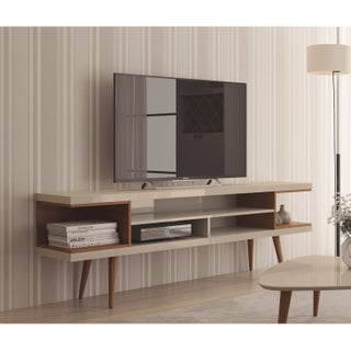 Palm Canyon Cherry Hills 70-inch TV Stand with Splayed Wooden Legs and 4 Shelves