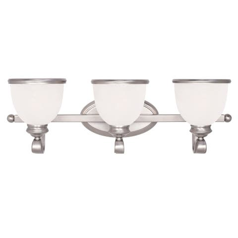 Willoughby 3 Light Bath Bar Pewter