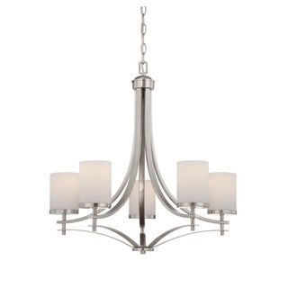 Savoy House Colton Satin Nickel 5-light Chandelier