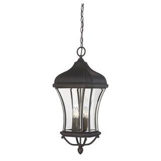 Savoy House Realto Walnut Patina Trisyn Hanging 4-light Lantern with Clear Beveled Glass