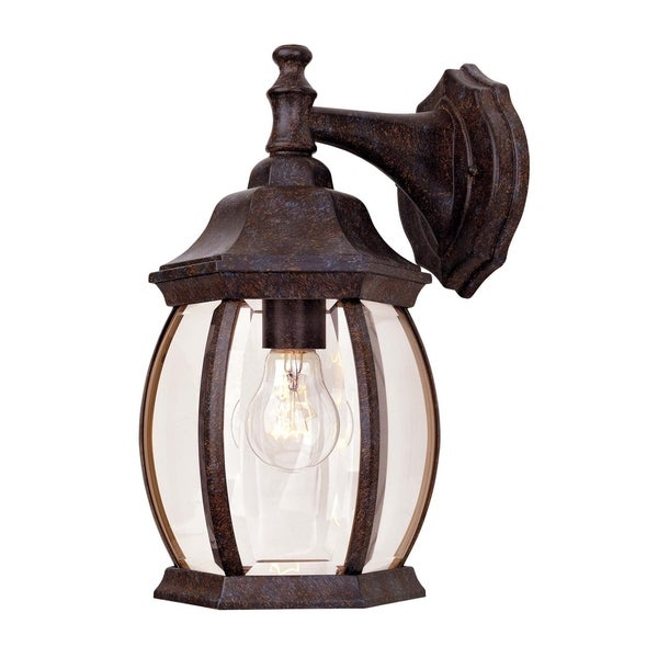 Exterior Collections Wall Mount Lantern Rustic Bronze