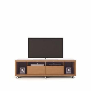Manhattan Comfort Cabrini Maple Cream/ Nude 1.8-inch TV Stand