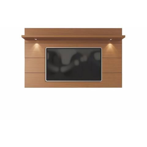 Manhattan Comfort Cabrini Cream Wood Floating Wall TV Panel