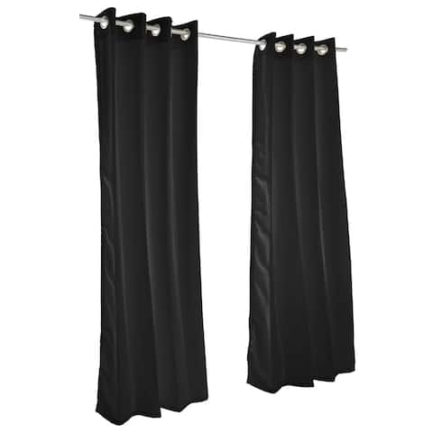 Pawleys Island Sunbrella Curtain - Canvas Black