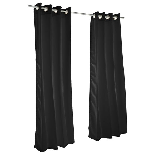 Pawleys Island Sunbrella Curtain - Canvas Black