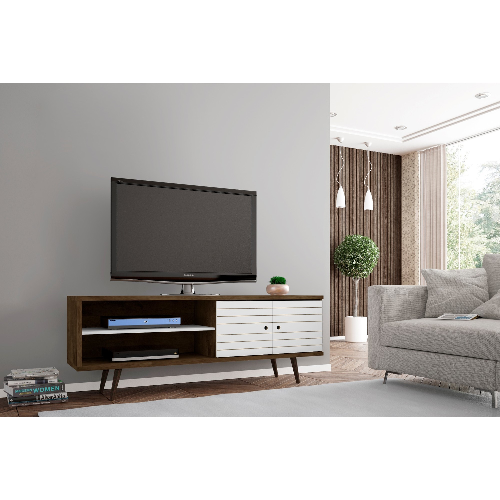 Shop carson carrington sortland wooden modern tv stand free shipping today overstock 22751405