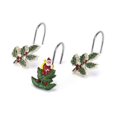 Spode Tree Red Shower Hooks
