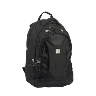 FUL Navigator Padded15-Inch Black Laptop Backpack