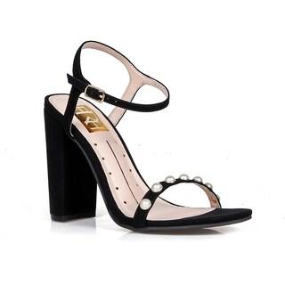 Fahrenheit Rosalind-13N Pearled Women's Block Heel Sandals