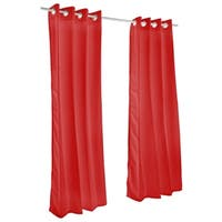 Pawleys Island Sunbrella Curtain -  Canvas Jockey Red