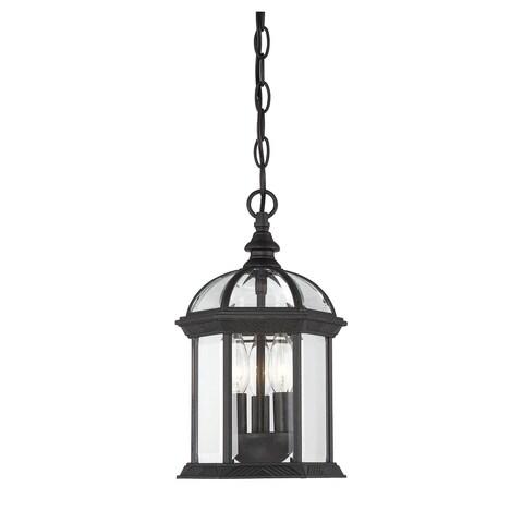 Kensington Hanging Lantern Textured Black