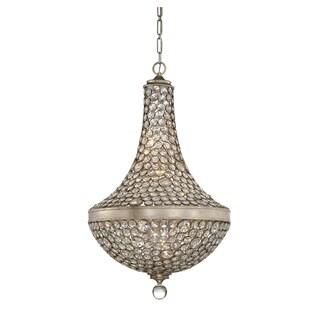 Savoy House Obsidian Argentum-finished Metal 8-light Crystal Pendant