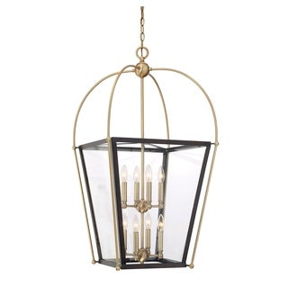 Savoy House Dunbar English Bronze/ Warm Brass 8-light Foyer Pendant