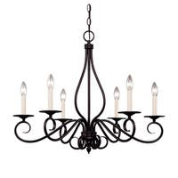 Oxford 6 Light Chandelier English Bronze
