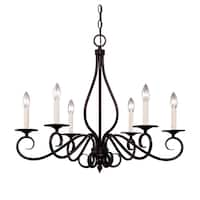 Oxford English Bronze-finished Metal 6-light Chandelier