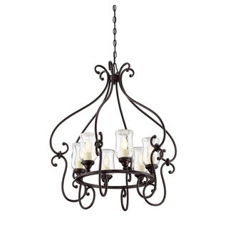 Weston 6 Light Outdoor Chandelier English Bronze
