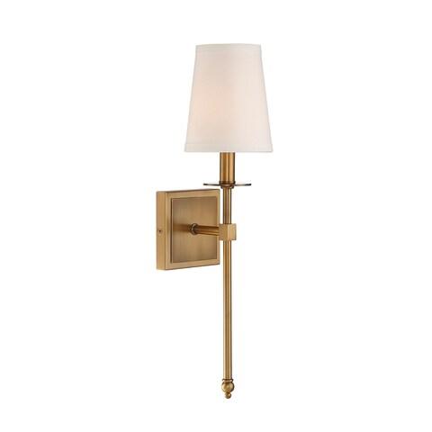 Strick & Bolton Sol Warm Brass 1-light Sconce