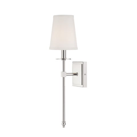 Monroe 1 Light Sconce Polished Nickel