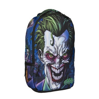 DC Comics Joker Molded Rubber 17-Inch Laptop Backpack